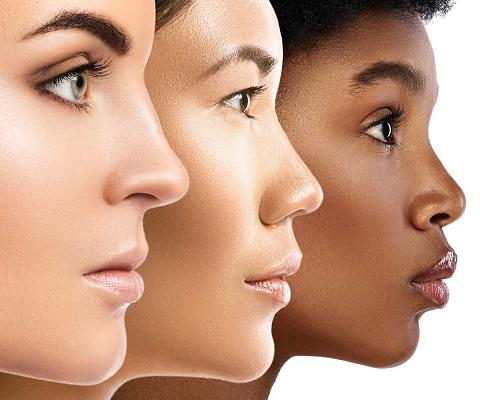différents formes du nez